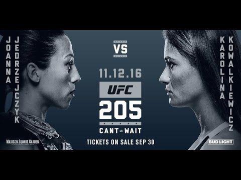 MMA UFC 205: Joanna Jedrzejczyk vs Karolina Kowalkiewicz, plus Miesha Tate