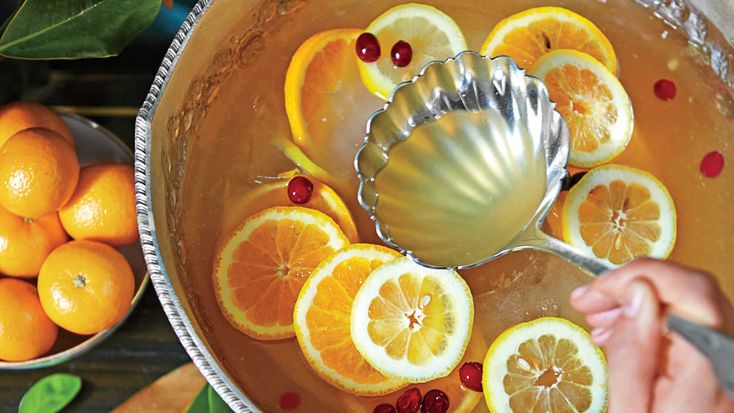 Montgomery Punch - 23 Festive Party Punches - Southern Living - Julia found this recipe in a cookbook by the Junior League of Montgomery, Alabama, where the punch is a town staple.   	Recipe: