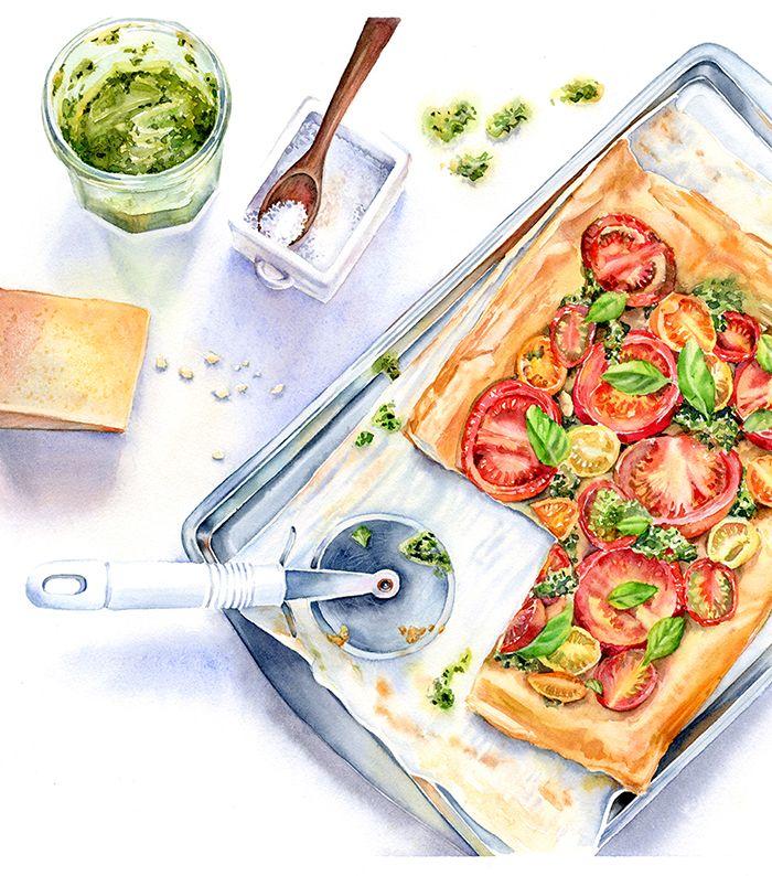 Les 3021 meilleures images du tableau aquarela food for Peinture alimentaire cuisine