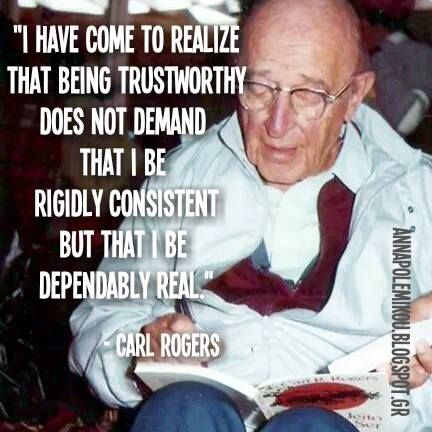 congruence, authentic_self, Carl_Rogers, Self, person-centred, client-centred, therapy, psychotherapy, counselling, psychology, quotes, annapolemikou.blogspot.gr