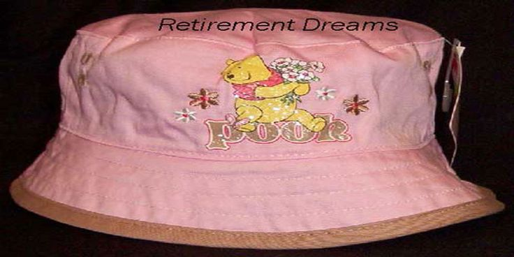 Girls DISNEY POOH Bucket Cap Hat NEW Infant Toddler Pink brown flowers Winnie #Disney