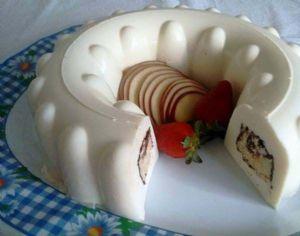 Gelatina de queso rellena de gansito