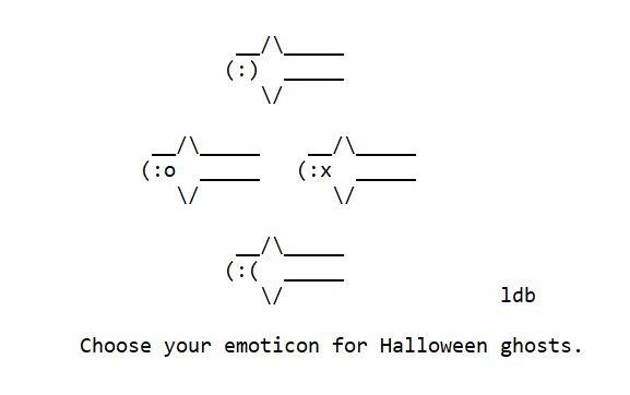 Emoticon Ghosts – ASCII Artist