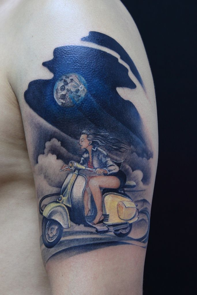 17 Best Images About Scooter Tatoos On Pinterest Pin Up