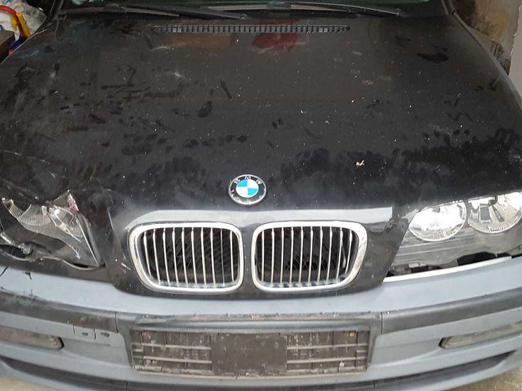 BMW E46 3er Schwarz / Metallic Unfallfarzeug Limousine Automatik Sportsitze