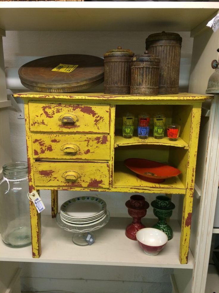 Skåp, industristil, målade möbler, Annie Sloan, Chalk Paint