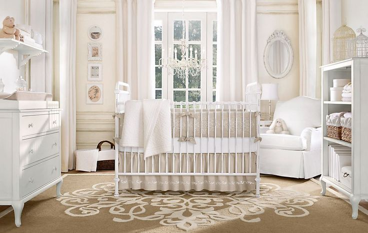 neutral: Babies, Restoration Hardware, Baby Girl, Baby Rooms Design, Neutral Nurseries, Nurseries Design, Girls Nurseries, Nurseries Ideas, Baby Nurseries