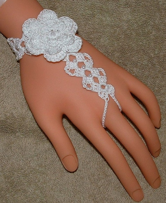Barefoot Sandals  Hand Crocheted with Rose by gilmoreproducts33, $13.00