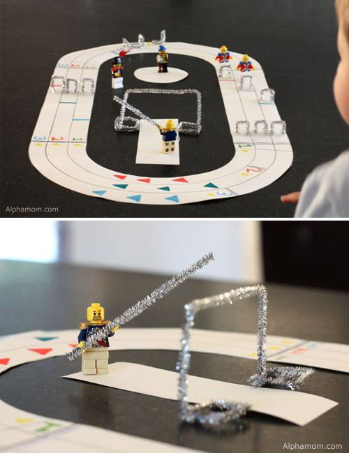Create a LEGO Olympics track and field (and 9 other less-awesome Olympic craft/food ideas).