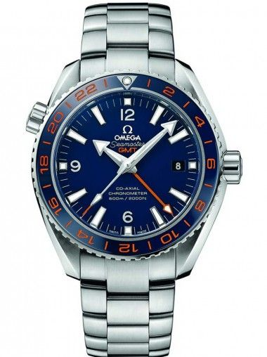 Omega Seamaster Planet Ocean Mens Stainless Steel Blue Dial Bracelet Watch 23230442203001