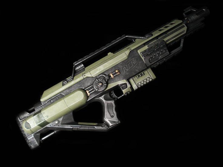 Nerf N Strike Stampede Ecs Dart Blaster Gun Halo Gow N7