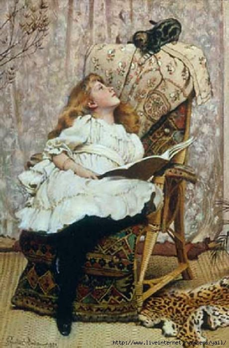 A Rival Attraction | Charles Burton Barber, 1845-94, was an English painter who attained great success with his paintings of children and their pets.