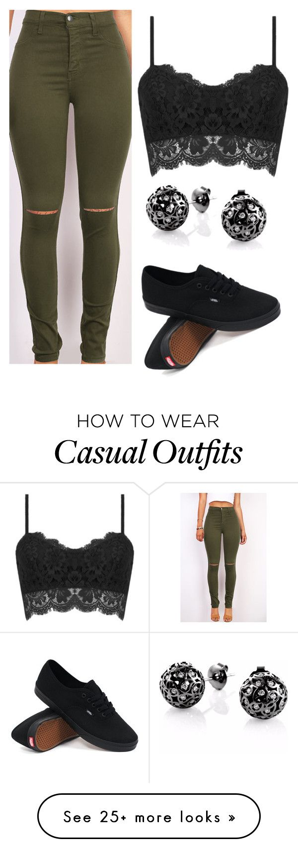 casual by ruthjauregui on Polyvore featuring Vans, Sonal Bhaskaran, womens clothing, women, female, woman, misses and juniors