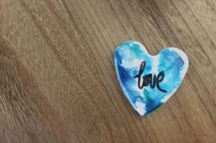 Water Colour Love Heart Cookies