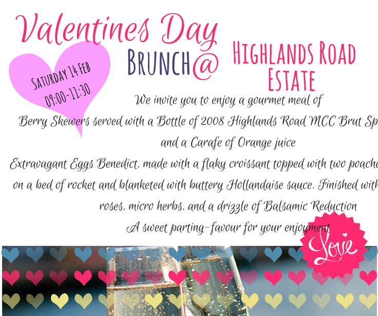 Valentines Day 2015 Menu @ Highlands Road Wine