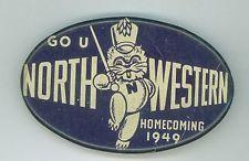Vintage 1949 Northwestern University Football Homecoming Pinback Button