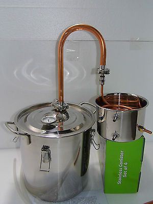 Copper 5g Alcohol Moonshine Still Spirits Distiller Brew Kit Spirits Boiler | eBay