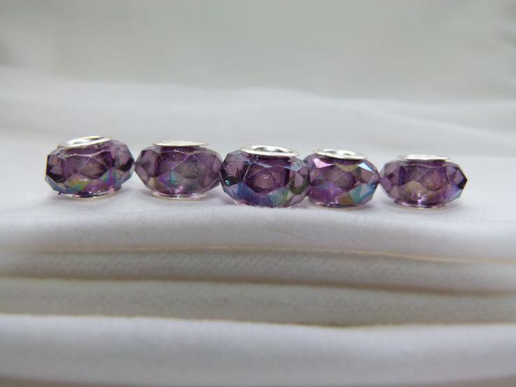 5 AB Pandora style beads