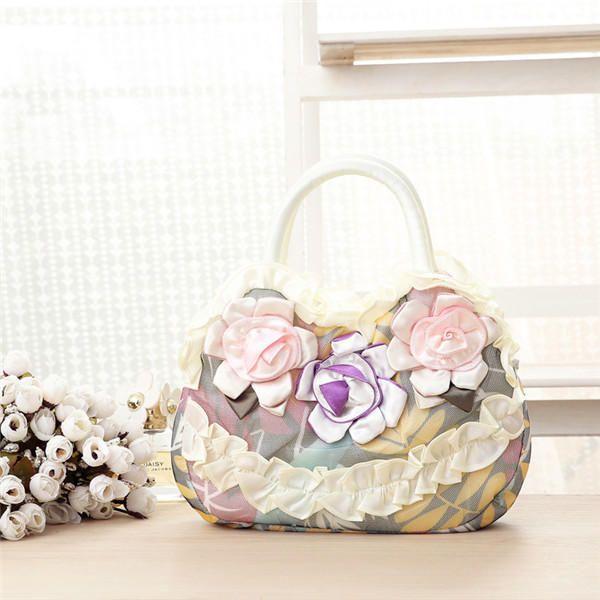 Women National Floral Polyester Handbag Daily Shopping Durable Handbag - US$11.99
