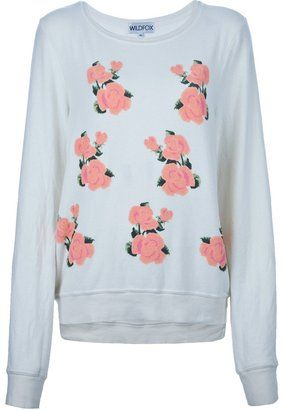 Wildfox rose sweatshirt Wildfox Couture