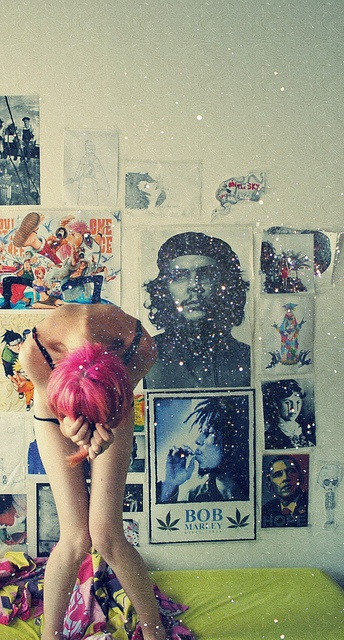 wall of photos, pink hair!에이플러스카지노 윈스카지노, Pink Hair Glitte, Crazy Sometimes, Hair Fantastic, Colors Hair