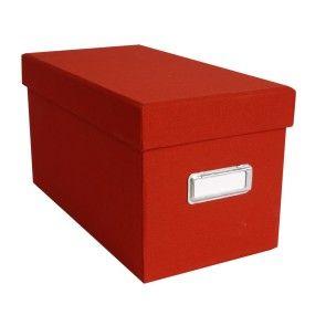 CD STORAGE BOX CLOTH: RED