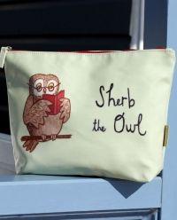 Not Before Tea Sherb The Owl Oil Cloth Wash Bag || Igloo Kids Clothing
