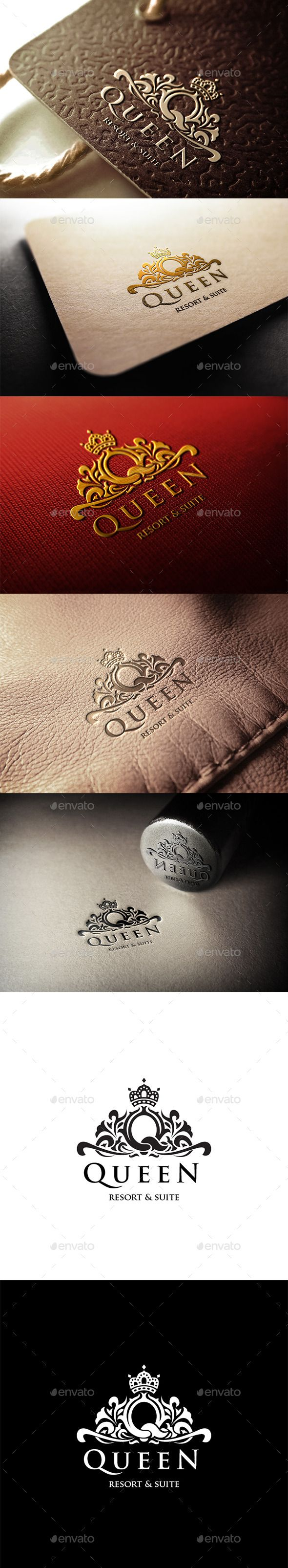 Queen Resort Logo Template #design Download: http://graphicriver.net/item/queen-resort-logo/11300176?ref=ksioks