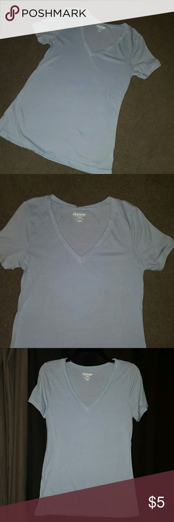 Old Navu Naby Blue V Neck Tee V Neck short sleeve tee. Only worn a few times. Old Navy Tops Tees - Short Sleeve