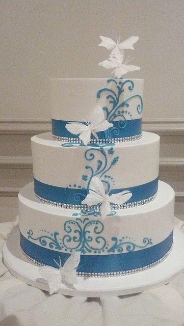 Elegant Butterfly Cake