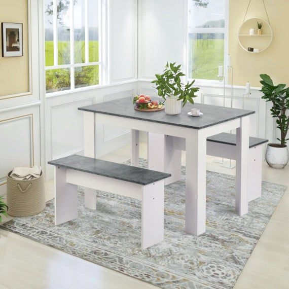 16++ Dining room table with 2 benches Best Choice