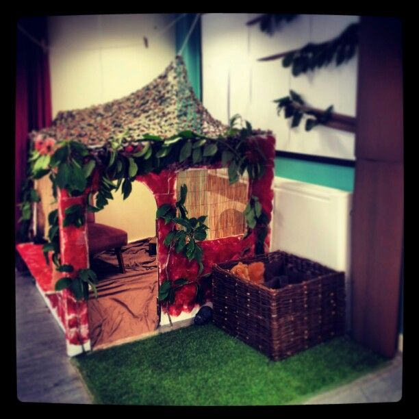 A lovely role play area for children in EYFS to work in. It's Percy Park Keeper's hut!