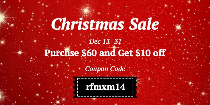 "Christmas Sale!! Use code ""rfmx14"" to get discount!"