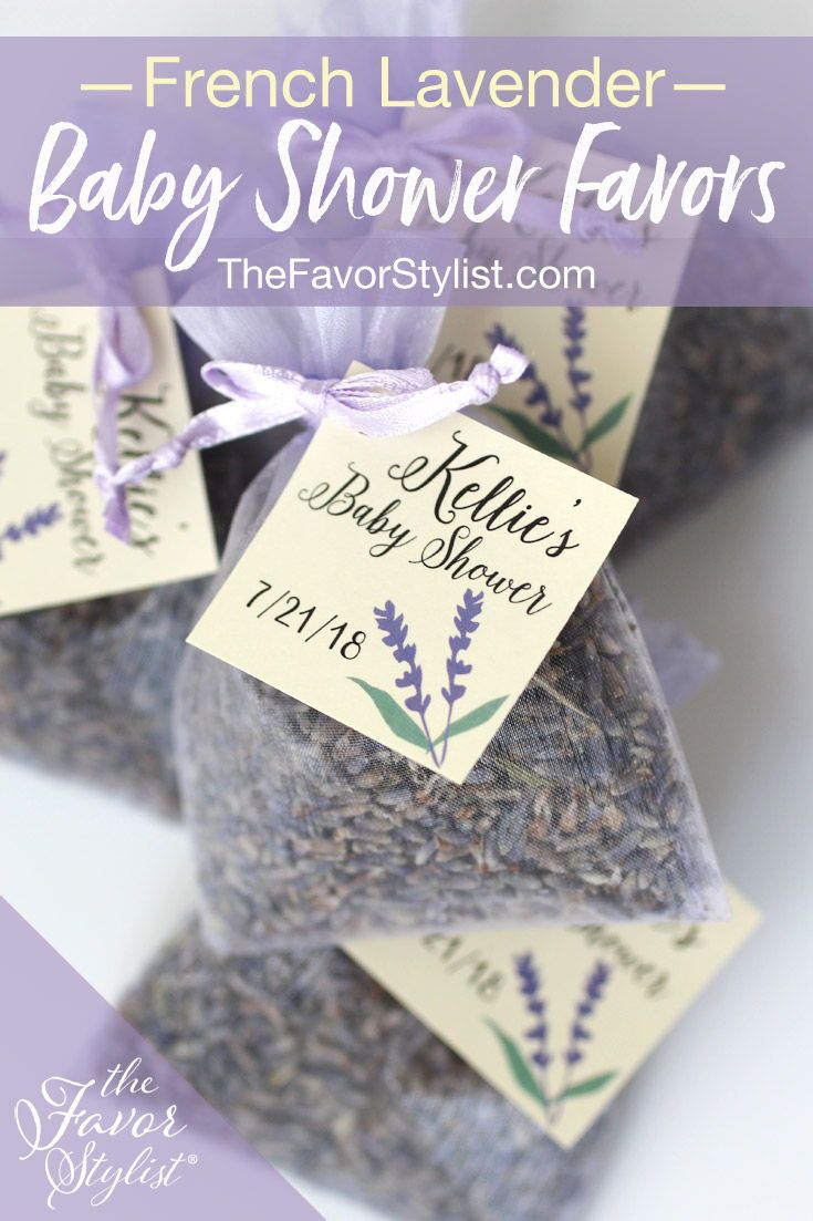 Lavender Sachets Lavender Baby Shower Favors French Lavender