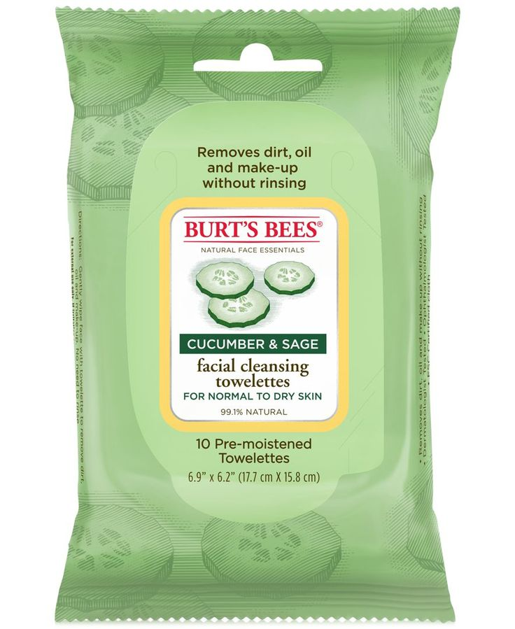 Burt's Bees Facial Cleansing Towelettes -Cucumber & Sage
