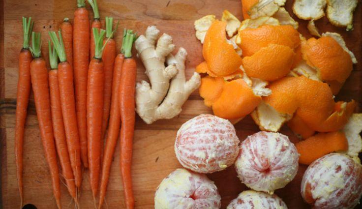 Cenoura salteada com laranja e gengibre