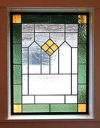 craftsman stained glass windows | stained glass beveled glass incorporating innovative design precision ...