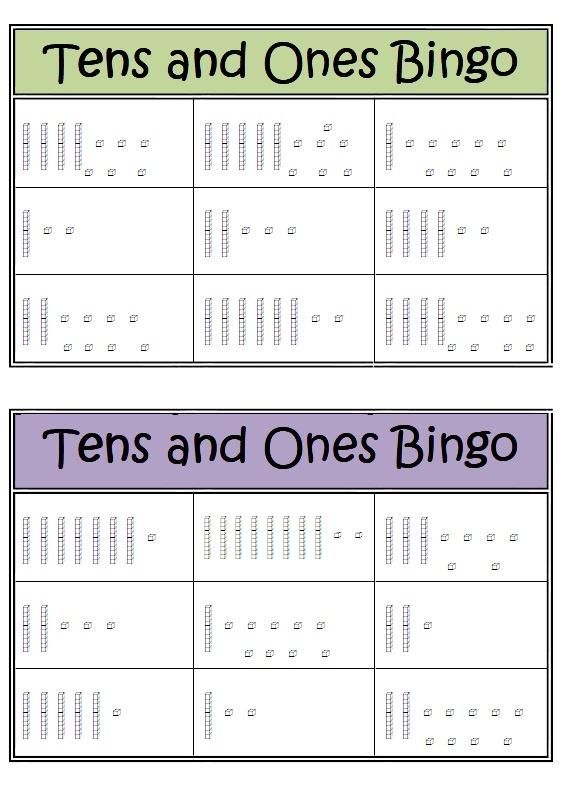 Tens and Ones Bingo Game