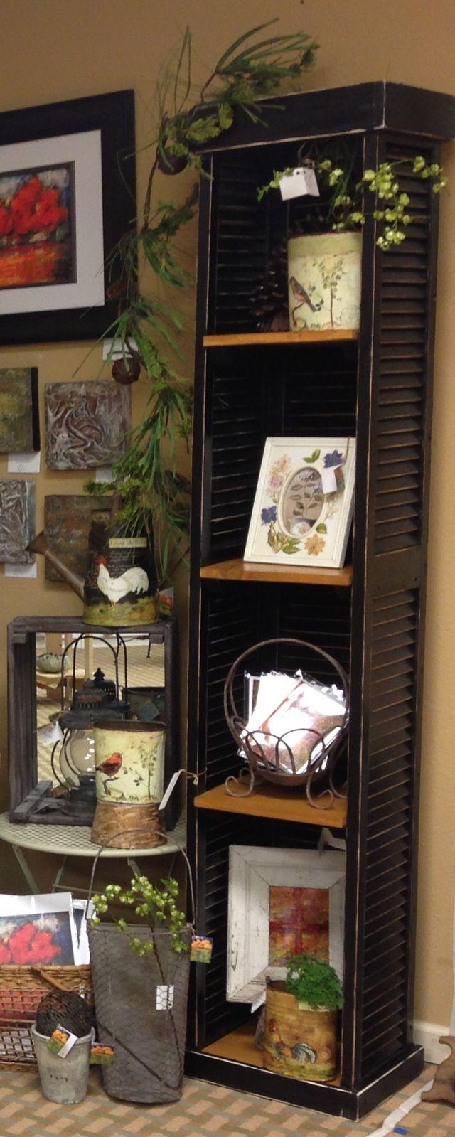 My new shutter shelf - love it!