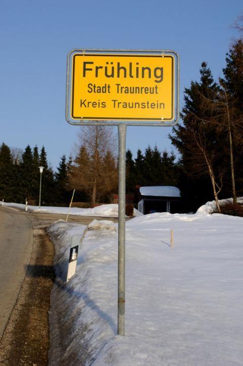 Skurrile Ortsnamen Frühling Bayern Traunreut