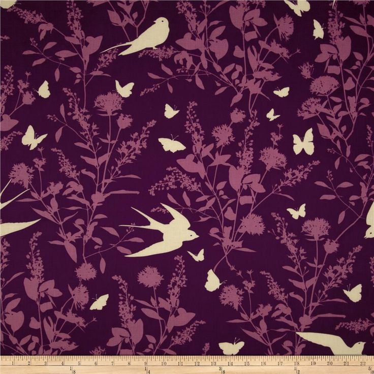 Designed by Joel Dewberry for Free Spirit, this cotton print is perfect for quilting, apparel and home decor accents.  Colors include shades of purple.