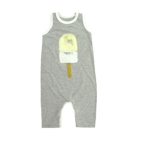 Racerback Romper Popsicle Print - mini mioche - organic infant clothing and kids clothes - made in Canada