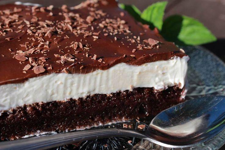 Η απίθανη πάστα ταψιού της Σόφης Τσιώπου σε video, Easy Chocolate Vanilla Cake! |