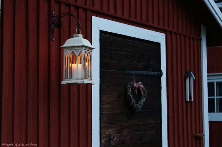 Decorated barn door. #Finland #decor