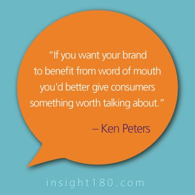 Word of mouth on social media