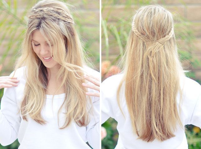 Messy Rope Braid Headband: 28 Gorgeous DIY Hairstyles  Messy Rope Braid Headband: 28   #Braid #DIY #diyhairstyles #easyhairstyle #Gorgeous #hairstyles...