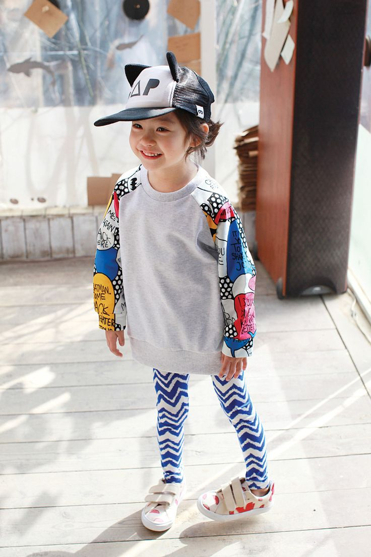 Zig Zag Leggings for girls 1-5. Cool alternative kids fashion, play ready style at Color Me WHIMSY.