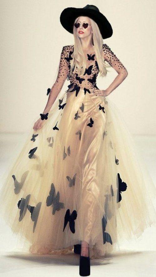Lady Gaga  butterfly dress