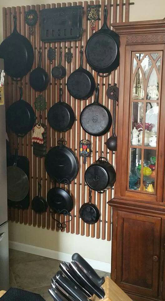 Panels from store display for cast iron pans