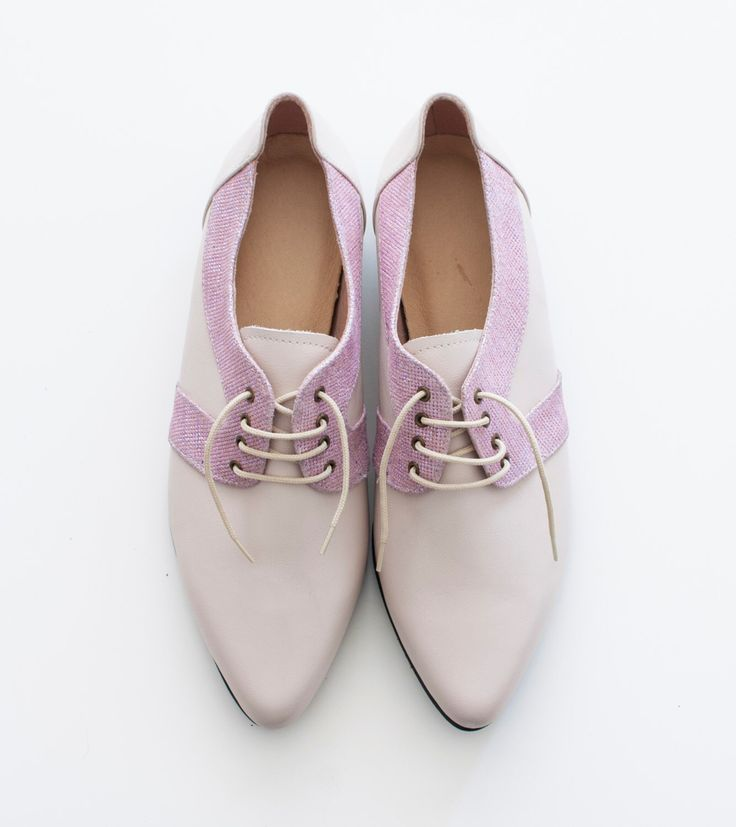 pink shoes, flat oxfords shoes, Women shoes, bridesmaid shoes, Two tone shoes, pointy shoes, Pink oxfords, tie shoes, pointy toe, sparkly by vidersShoes on Etsy https://www.etsy.com/au/listing/259415364/pink-shoes-flat-oxfords-shoes-women
